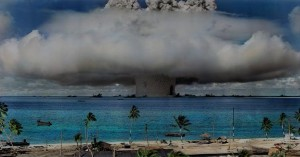 Nuclear test in the Marshall Islands