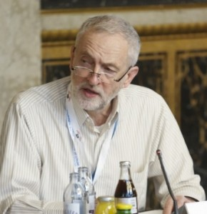Jeremy Corbyn speaking at the roundtable hosted by the Austrian Parliament on Dec 9