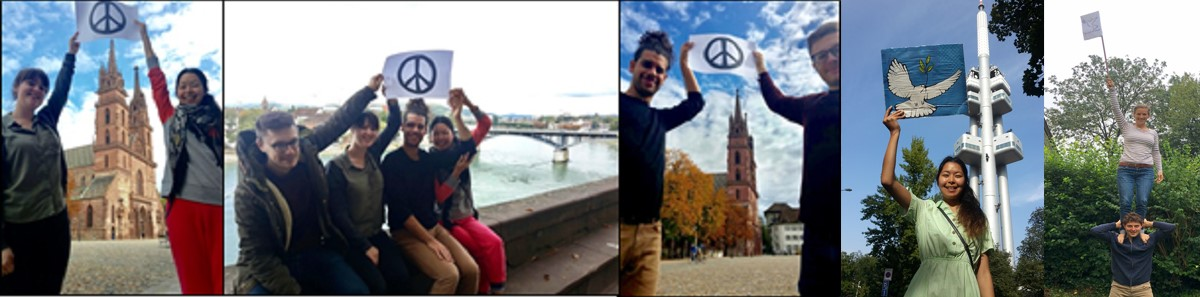 Marzhan and other youth 'Reaching HIGH for a nuclear-weapon-free world' to promote September 26 International Day for the Total Elimination of Nuclear Weapons.
